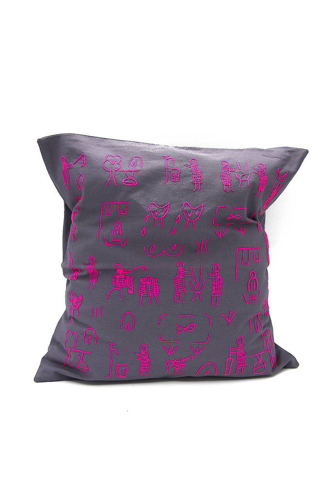 Penduka Village Story Hand Embroidered Cushion Cover