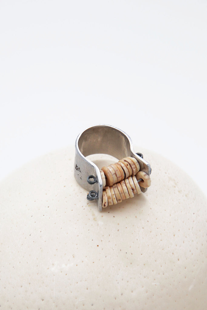 Ekipa - Abacus Ostrich Egg Shell Ring