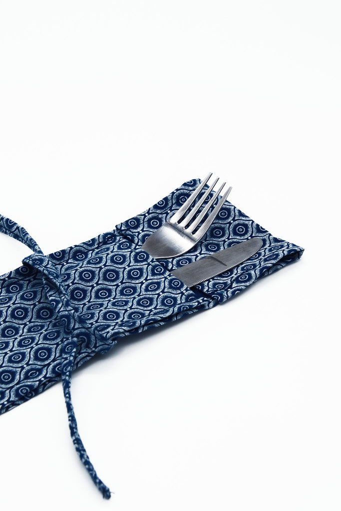 Little Bugs - African Cloth Silverware Holder