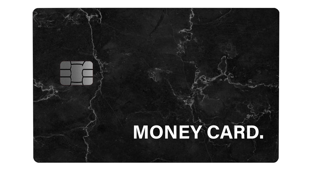 Money Card Marble Black - Passticker