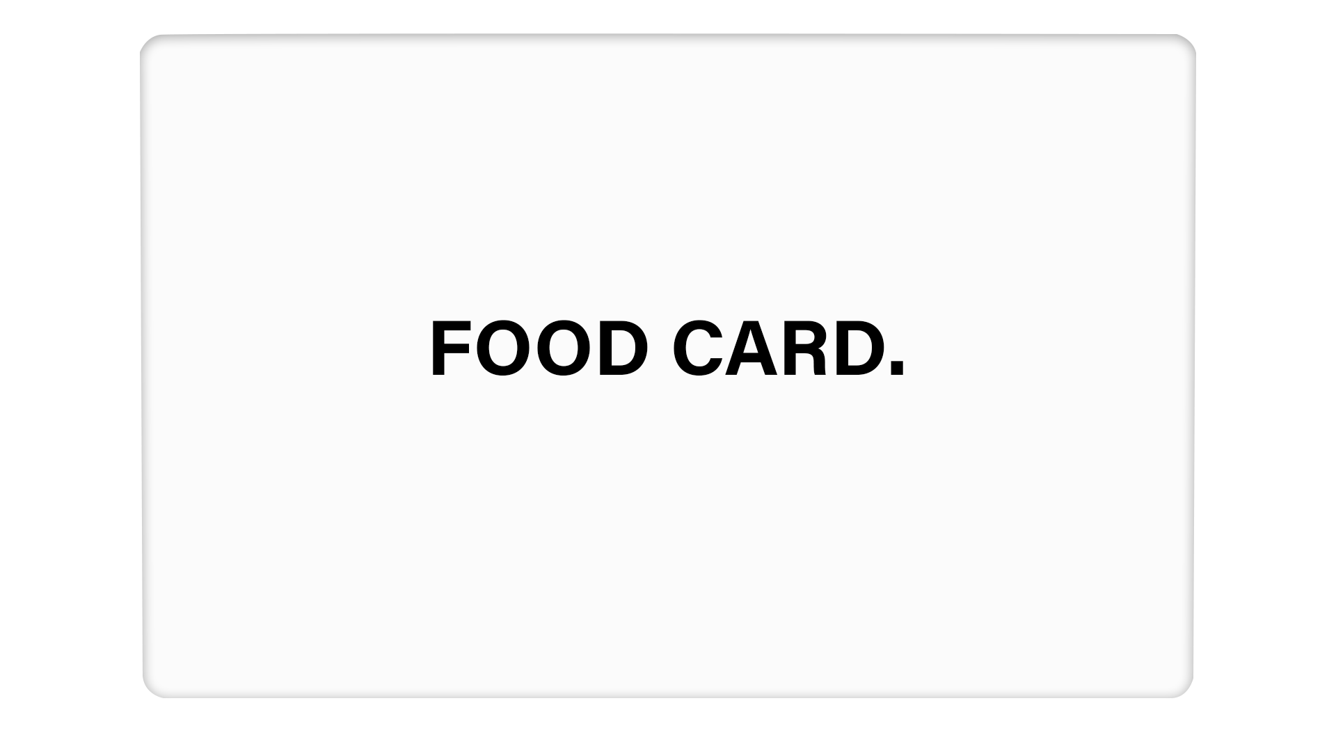 Food Card - Passticker