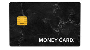 Money Card Marble Black