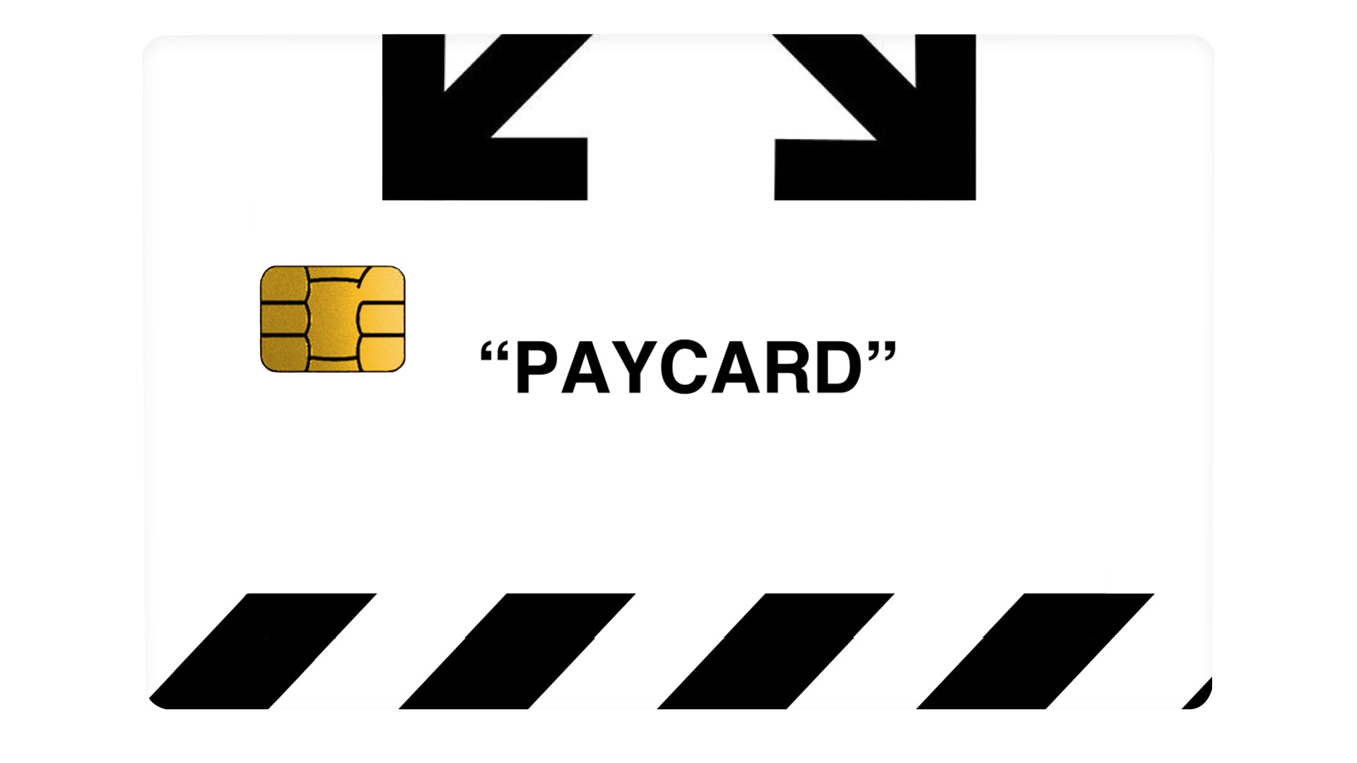 "Bank ""PAYCARD"" White - Passticker"