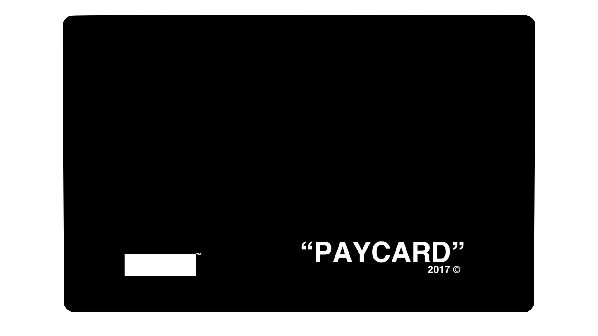"""PAYCARD"" Black - Passticker"