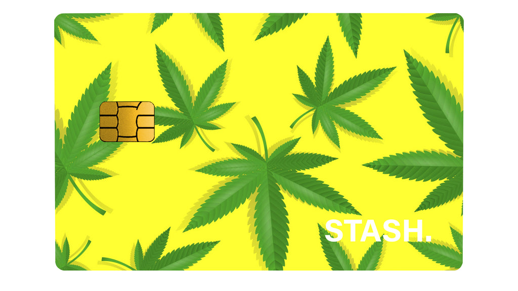 Weed Stash Yellow - Passticker