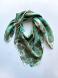 Allover Print Scarf in Jadeite