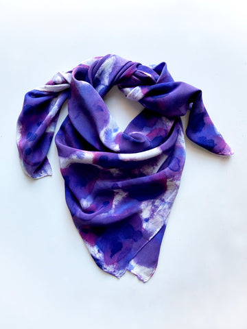 Allover Print Scarf in Purple