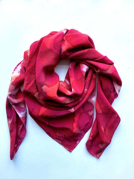Allover Print Scarf in Red