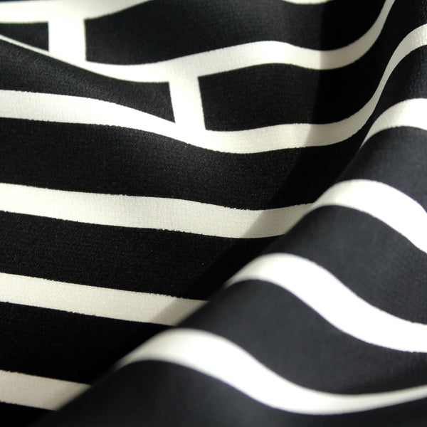 Black Broken Stripe Tee SAMPLE