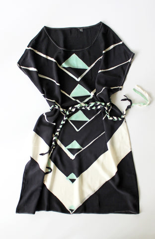 Black Angle Deco Dress Sample