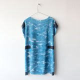 All Over Blue Tee Dress Sample