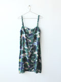 Forest Ink Braided Strap Silk Dress Sample