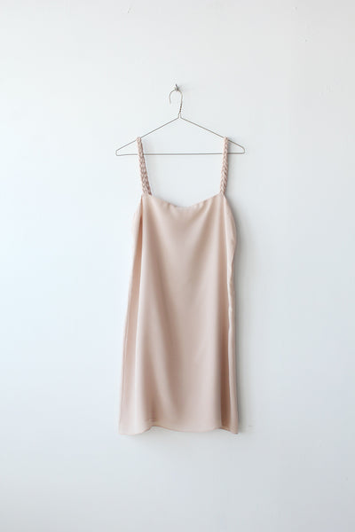 Braided Strap Silk Dress Sample