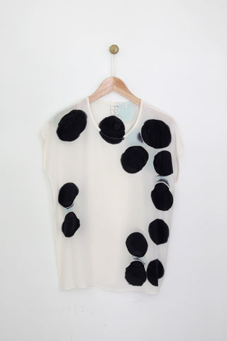Circle Dots Silk Tee SAMPLE