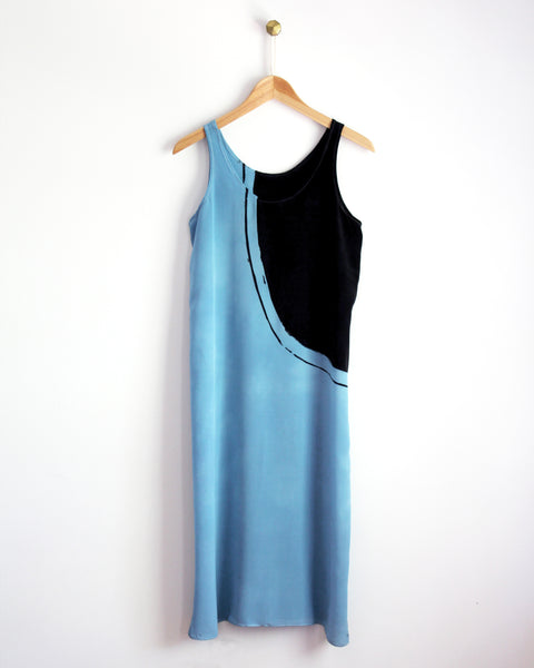 Blue Deco Tank Dress Sample