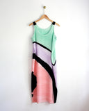 Tri-Color Deco Tank Dress Sample
