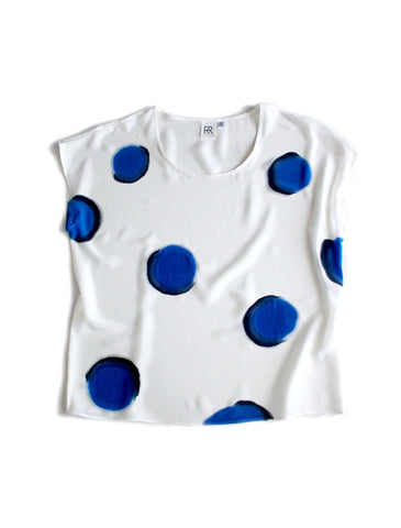 Big Dot Silk Tee Sample