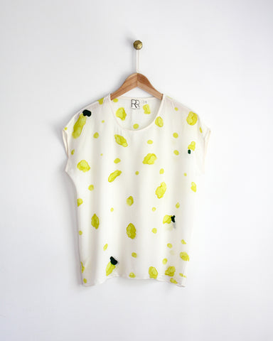 Lemon Print Silk Tee SAMPLE