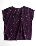 Plum Polka Dot Silk Tee