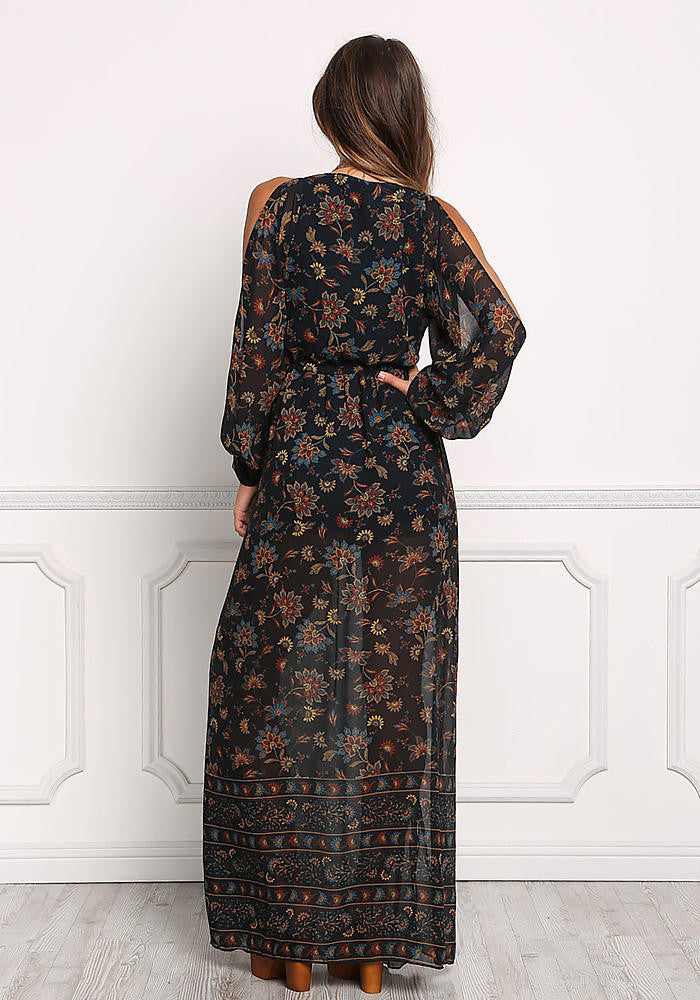 First Date Black Floral Dress