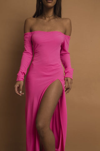 Karren Off the Shoulder Maxi  Dress