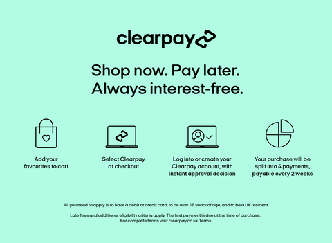 We now offer Clearpay!