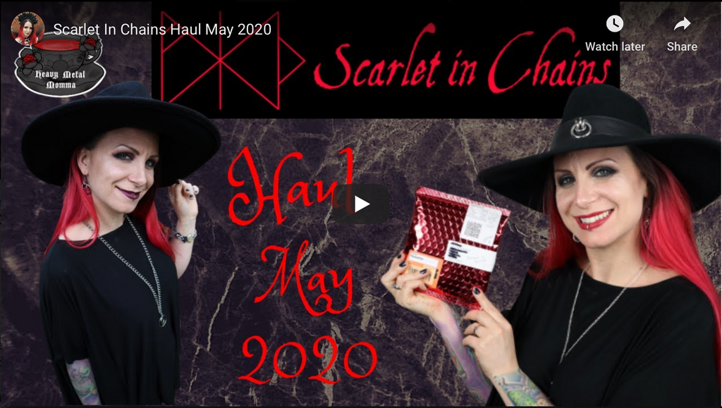 Heavy Metal Momma - Scarlet in Chains Haul May 2020