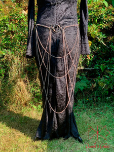 Vampiress Stainless Steel Chain Skirt Showing Front View