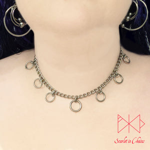 Valkyrie Micro chain collar 304 Stainless Steel shown warn