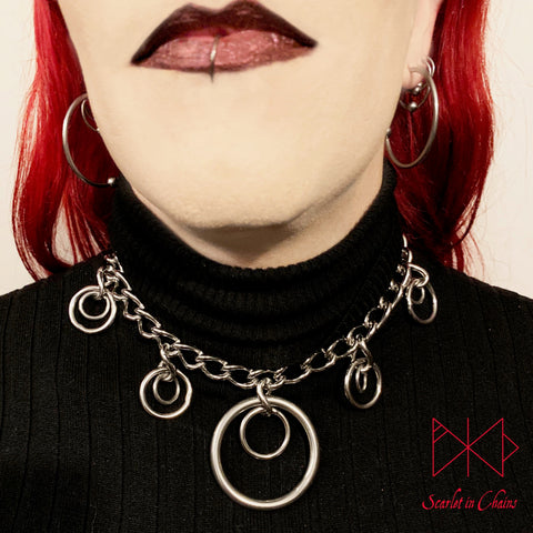 Valkyrie Eclipse collar shown being worn 304 Stainless Steel
