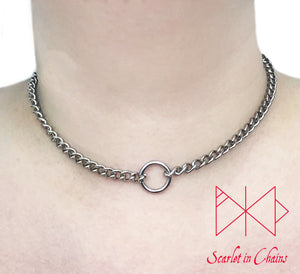 Stainless steel micro chain O ring collar worn