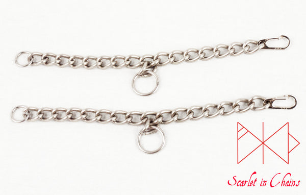 flat shot of a pair of Rockstar anklets