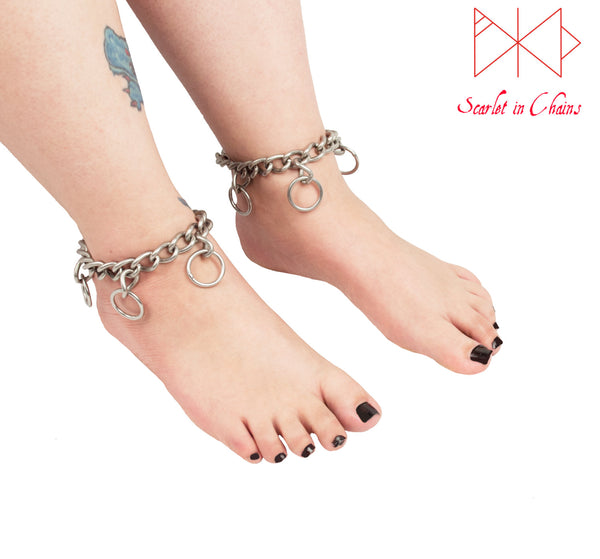 worn shot of Valkyrie anklets