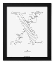 "Load image into Gallery viewer, Letter X 8""x10"" Print, Black Wooden Frame  ($40)"