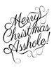 Merry Christmas A-hole Cotton Kitchen Towel
