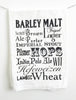 Beer Words Cotton Kitchen Towel