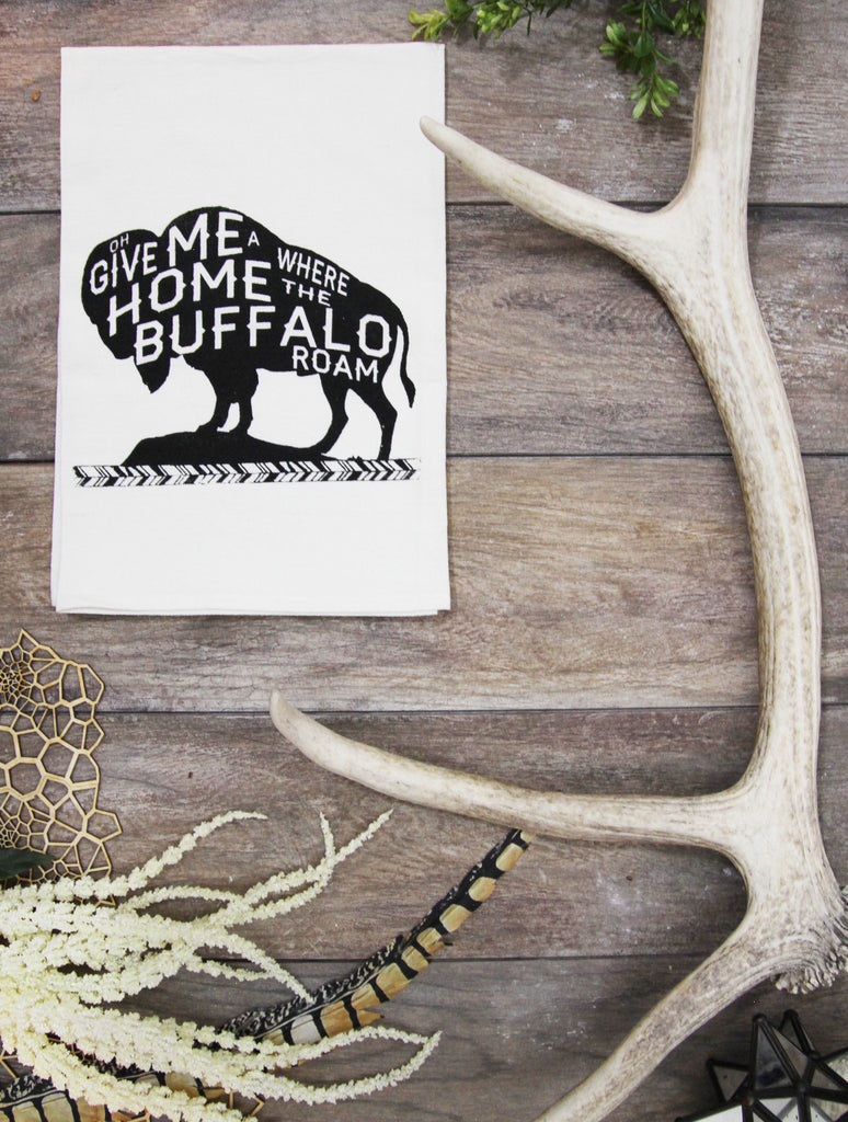 Where the Buffalo Roam Cotton Kitchen Towel