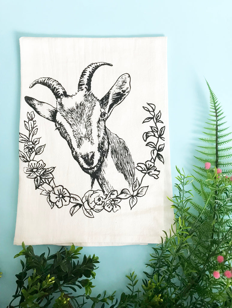 Goat Cotton Kitchen Towel