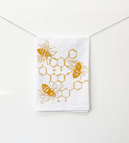Honey Chemistry Kitchen Towel - Ochre