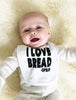 I Love Bread Baby Bib