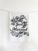 Just Married Cotton Kitchen Towel