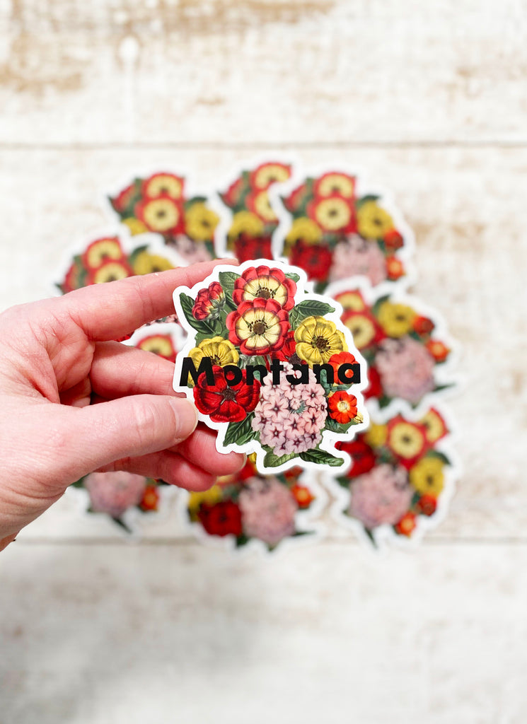 Montana Flowers Sticker