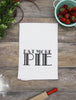 Eat More Pie Cotton Kitchen Towel - Black