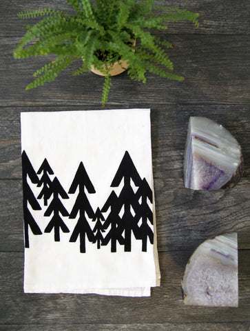 Modern Pine Trees Kitchen Towel