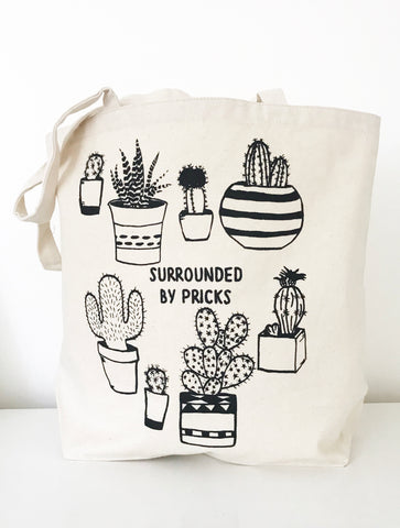 Surrounded by Pricks Farmers Market Tote