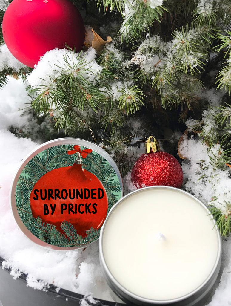 Surrounded by Pricks Holiday Edition Scented Candle