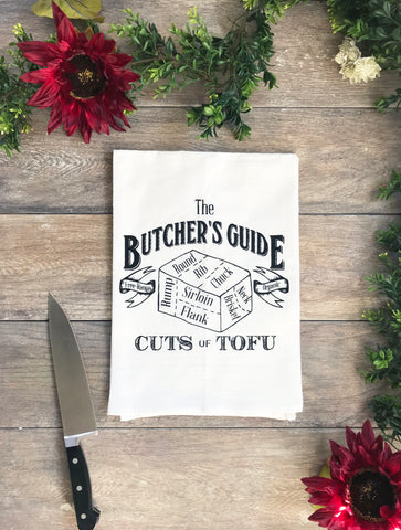 Tofu Butcher's Diagram Cotton Kitchen Towel