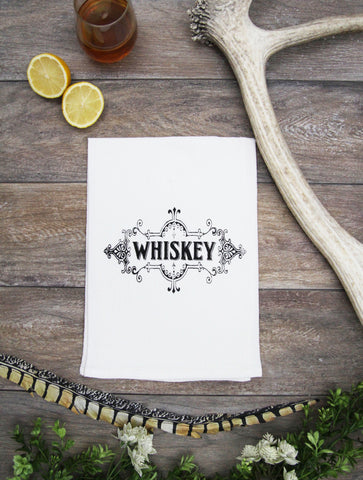 Whiskey Label Kitchen Bar Towel