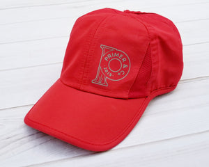 Ponytail Hat- Athletic Red