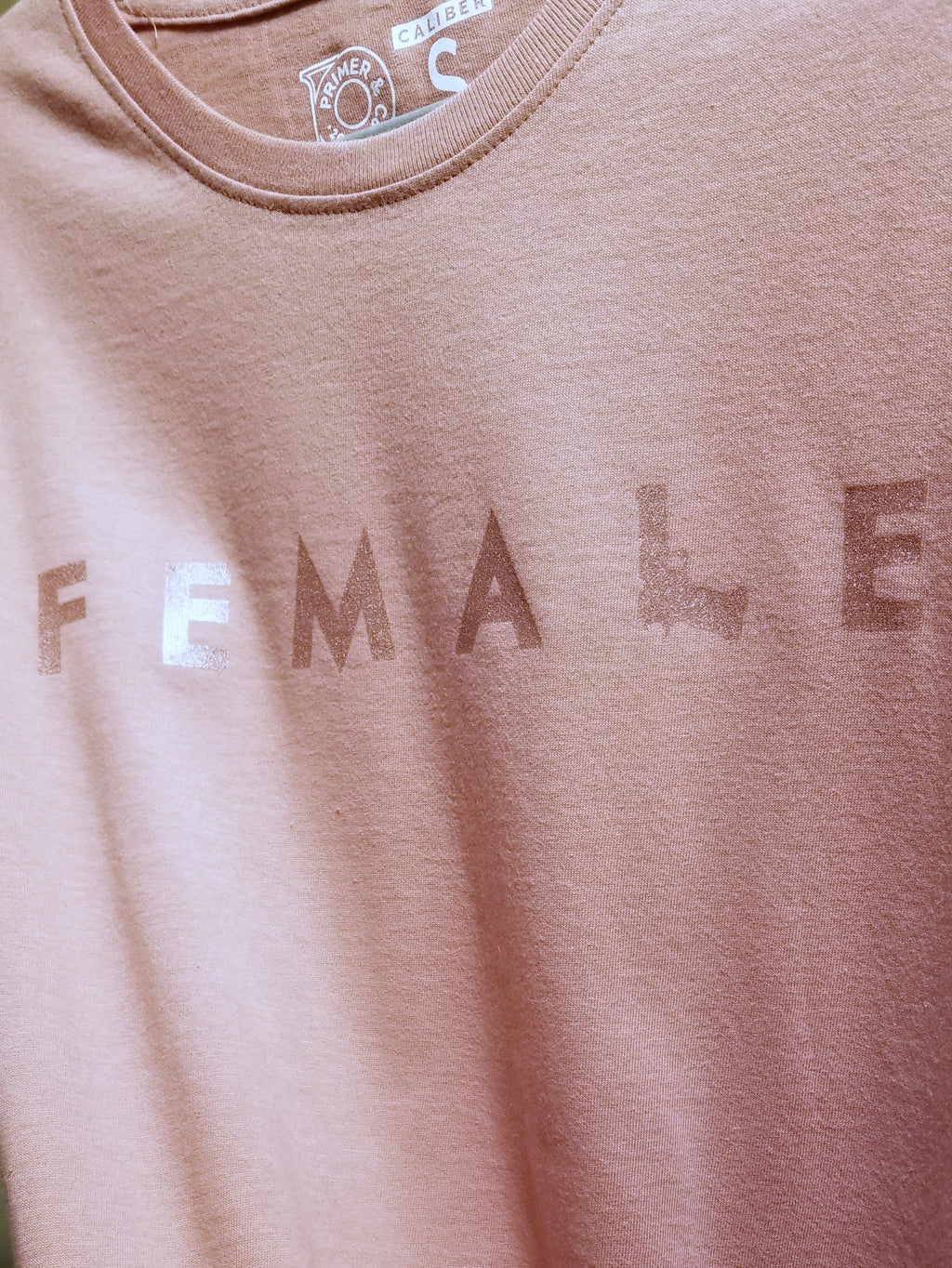 Women's Crew Neck Tee - Firearm Female